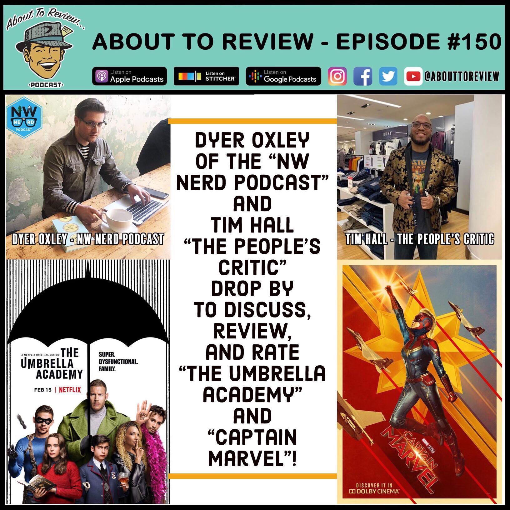 ATR #150 – Captain Marvel & The Umbrella Academy – About to